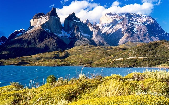 Torres del Paine from Lake Pehoé, Chile