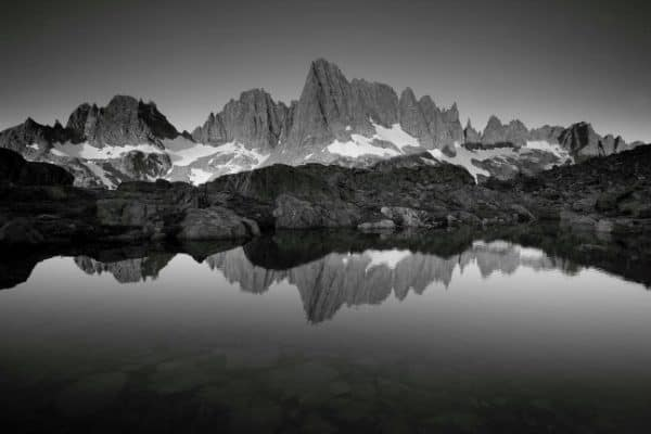 Ansel Adams Wilderness, California. Sunrise, Cabin Lake
