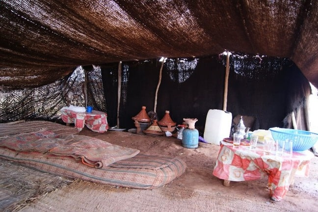 Berber Tent in the Atlas Mountains of Morocco