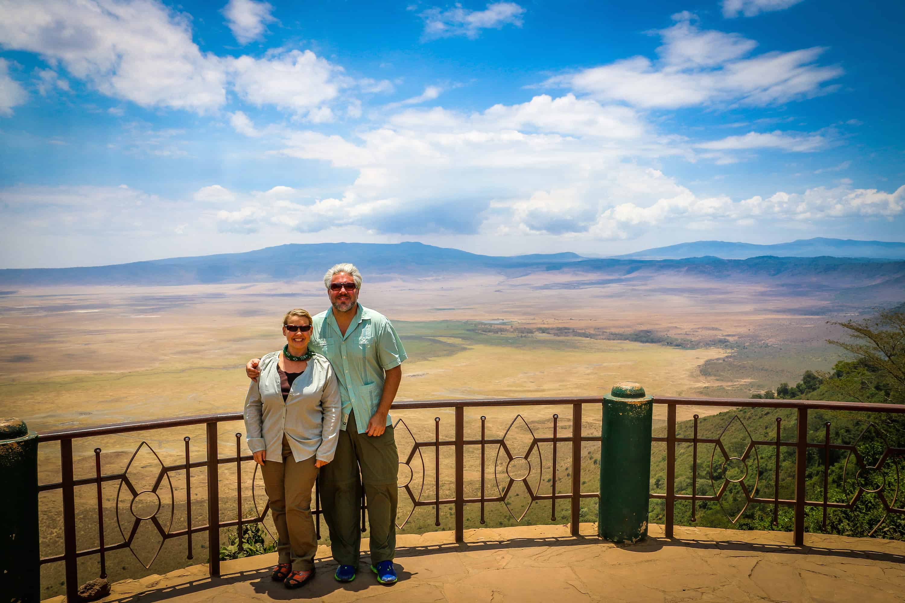 Bret Love and Mary Gabbett in Tanzania's Ngorongoro Conservation Area