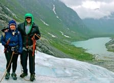 Climbing Nigardsbreen Glacier, Norway
