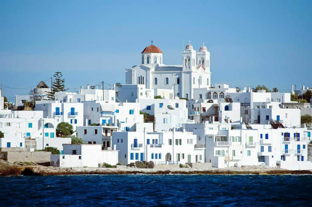 Parikia, the Capital of Paros Island, Greece