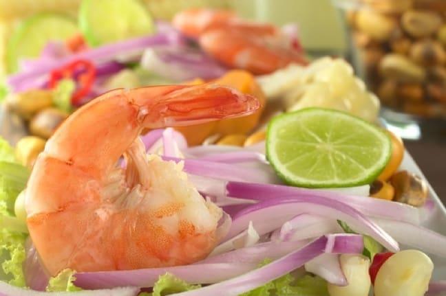 Peruvian Ceviche Peruvian shrimp ceviche