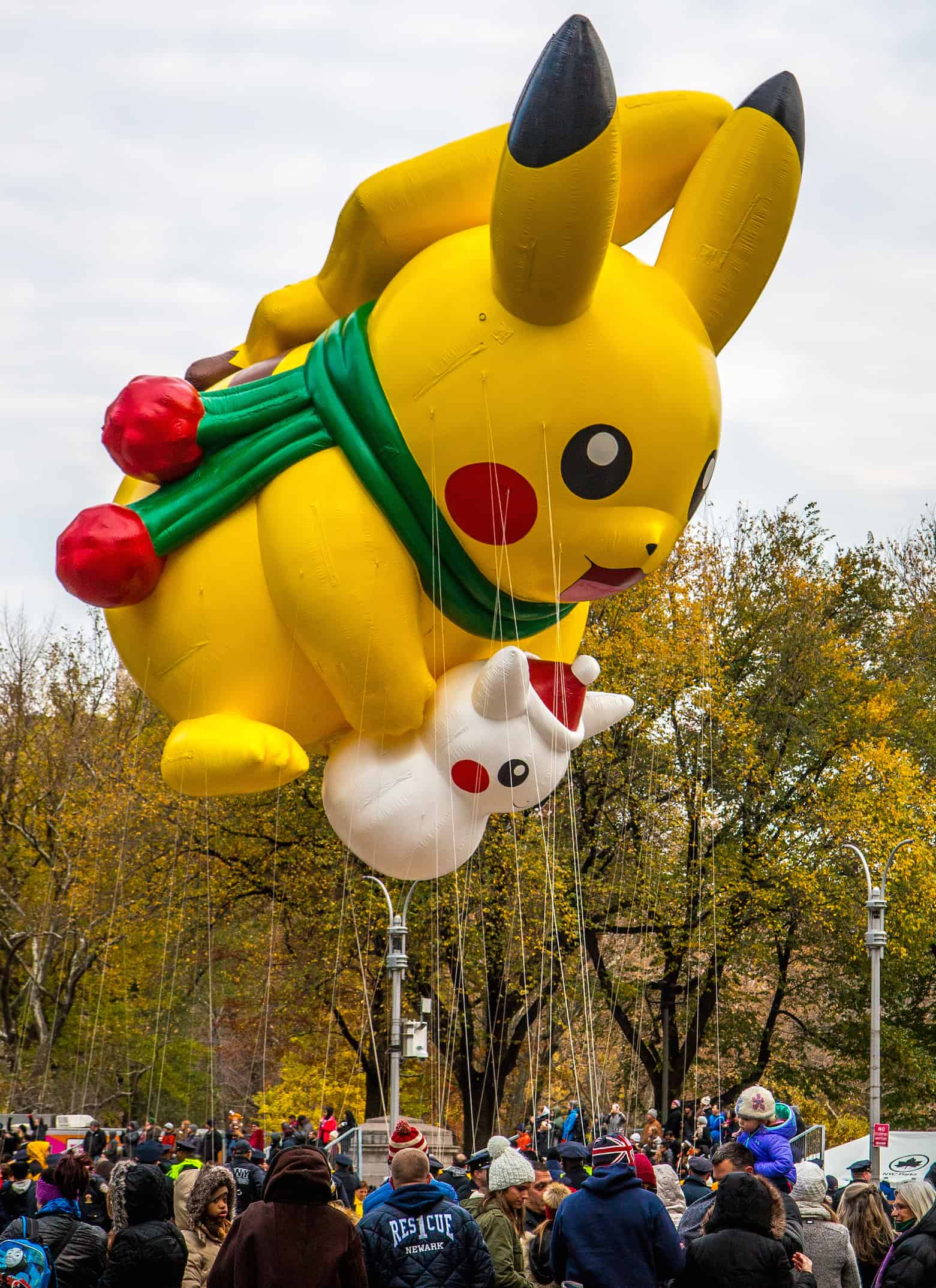 90th macy's thanksgiving day parade- Pikachu