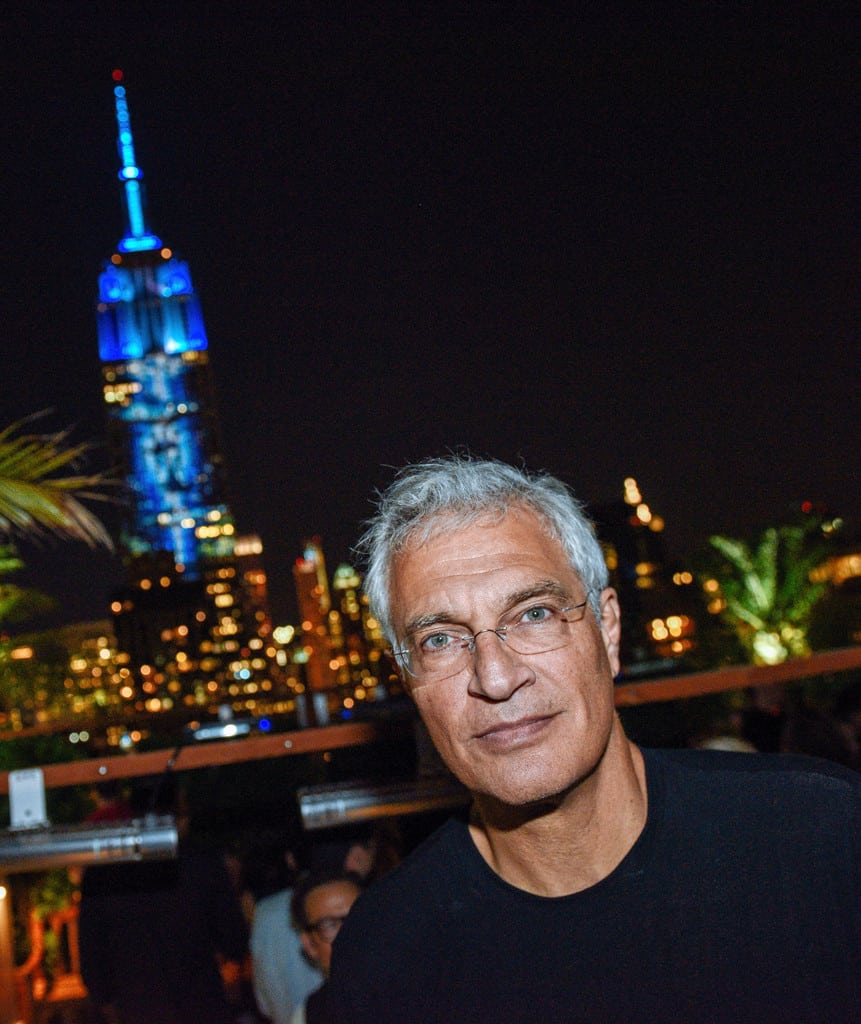 Louie Psihoyos With Projecting Change at Empire State Building