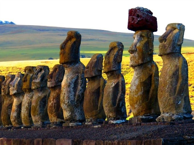 Rapa Nui National Park Easter Island Statues upclose