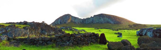 Rapa Nui National Park Easter Island- rocky landscape