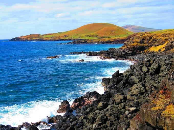Rapa Nui National Park Easter Island- shoreline