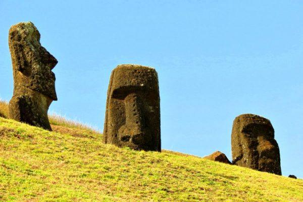 Rapa Nui National Park Easter Island- Moai statue f
