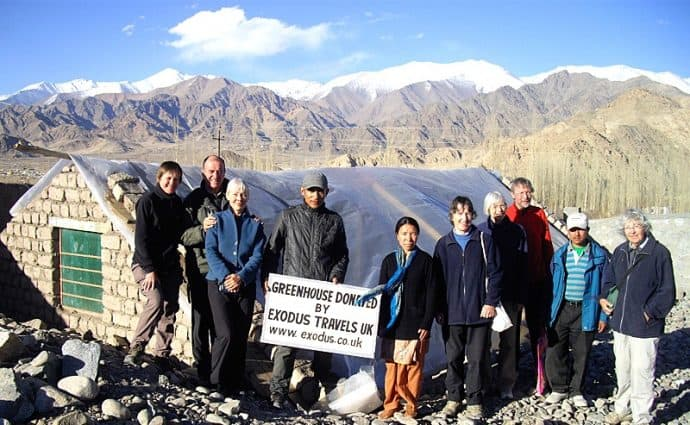 Responsible Travel: Greenhouse in Ladakh - Exodus RT project