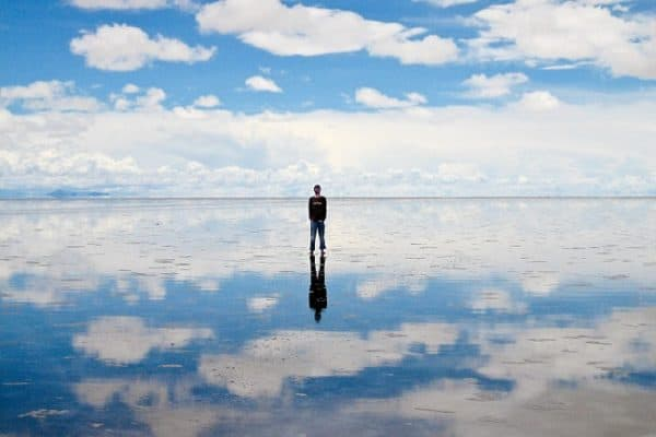 The Bolivian Salt Flats of Salar de Uyuni