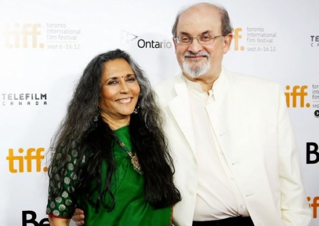Salman Rushdie and Director Deepa Mehta at TIFF 2012