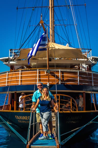 Variety Cruises' Galileo Arrival on Santorini, Greece