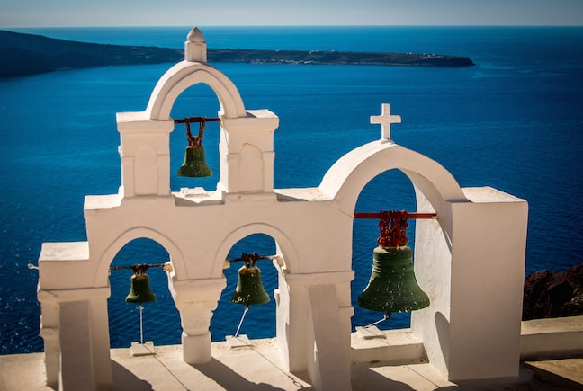 The Bells of a Church in Fira, Santorini