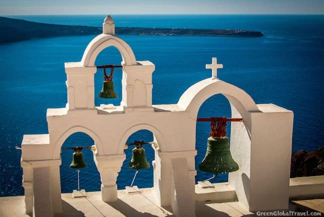 Bells on a Church in Oia, Santorini
