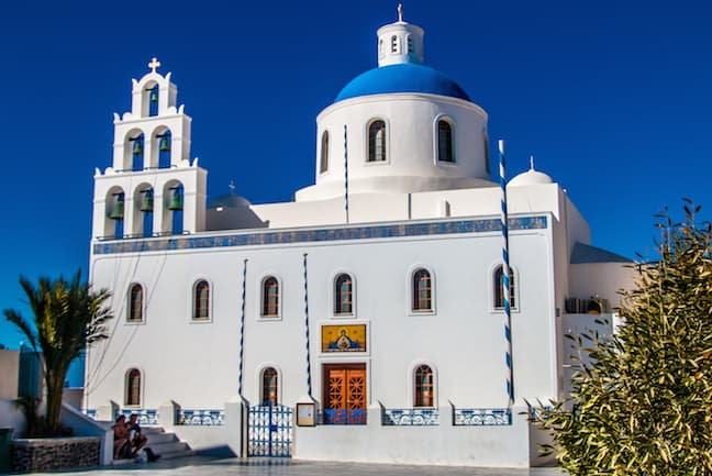 The Central Cathedral in Oia, Santorini