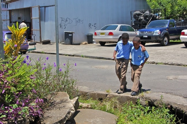 Schoolboys in Portsmouth, Dominica