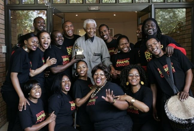 Soweto Gospel Choir with Nelson Mandela