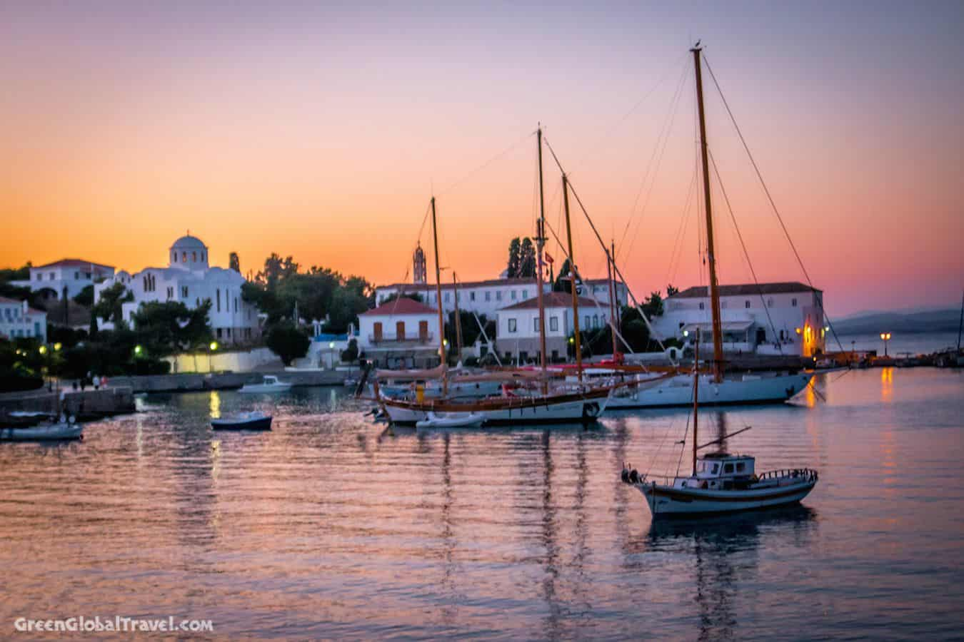 Spetses_Harbor_Sunset_Greece
