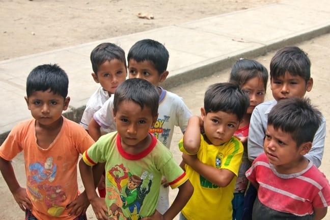 Ribereños Boys in Nueva York Village on the Peruvian Amazon