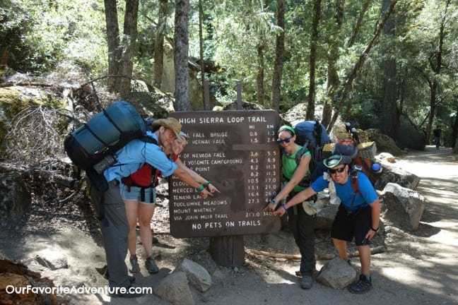 Hiking the John Muir Trail - Start of trail