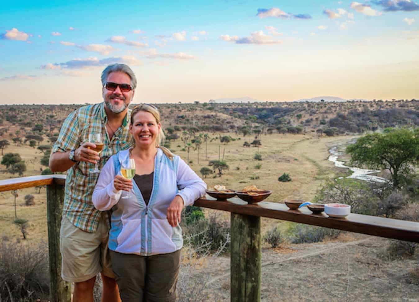 Sundowner at Tarangire Safari Lodge