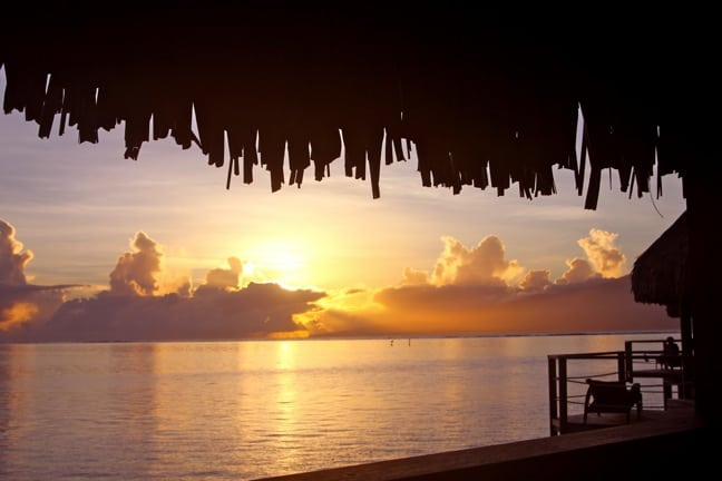 Sunrise in Moorea, Tahiti