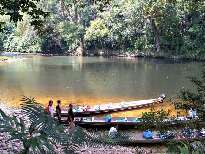 Taman Negara -Boats on the Bank