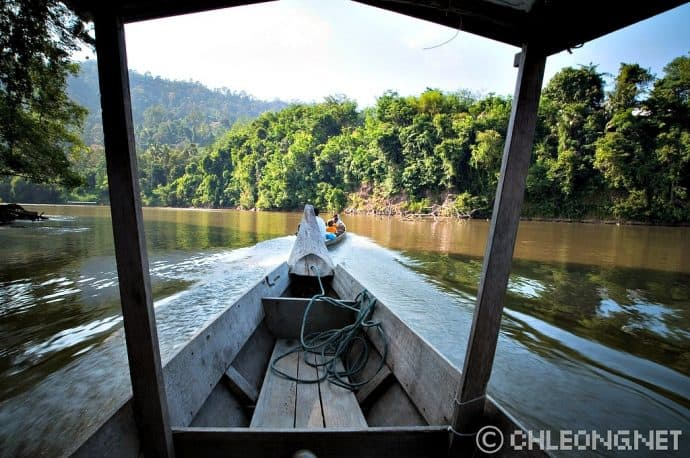 Taman Negara -Skiff on the River