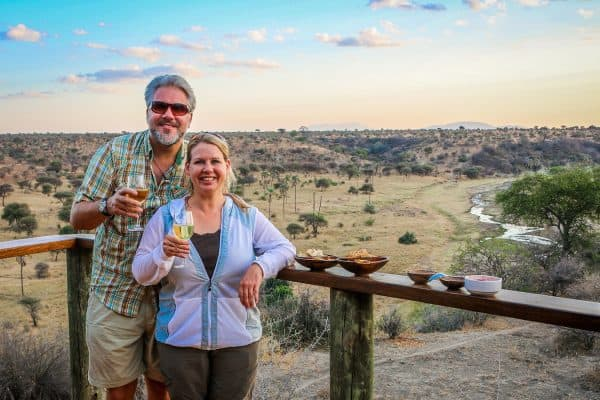 Bret Love and Mary Gabbett at Tarangire Safari Lodge