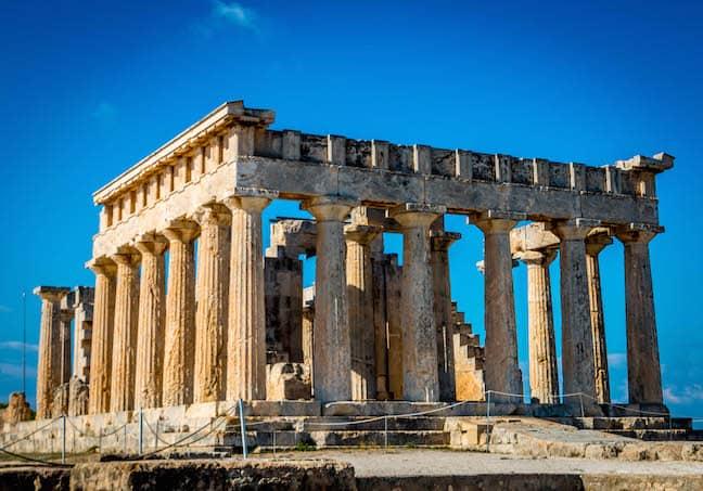 Temple of Aphaea on Aegina Island, Greece
