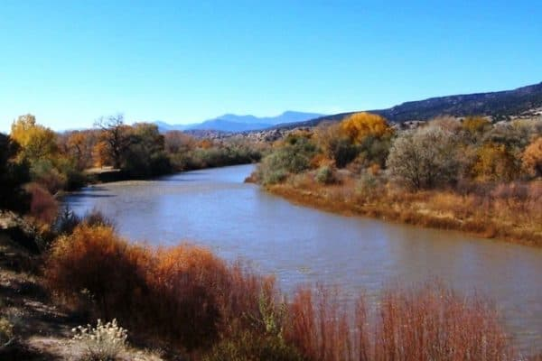 Rio Grande River at Los Luceros, New Mexico