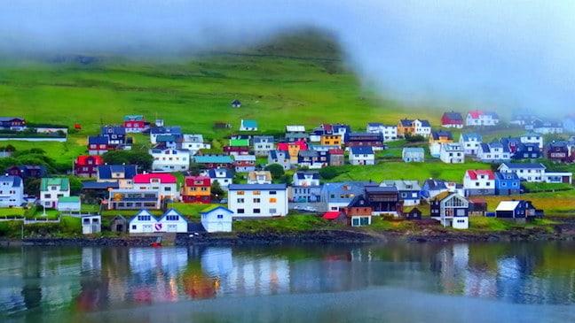 Miðvágur Village, by Mike Jerrard