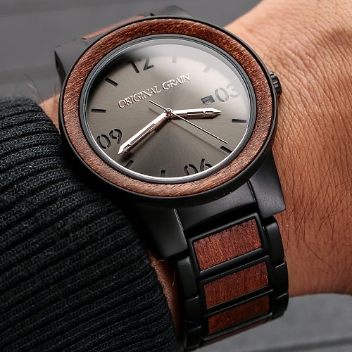 Travel Fashion - Original Grain Mens Watch for Eco Traveler