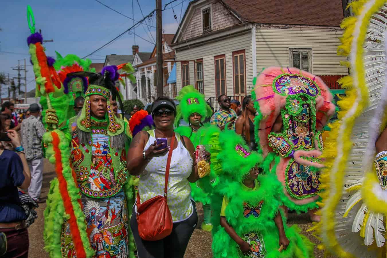 Treme New Orleans: Spy Boy Dow Edwards at Super Sunday 2015