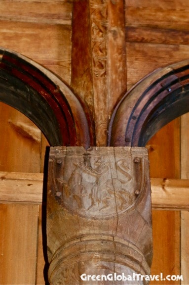Capital of a Column inside Urnes Stave Church, Norway