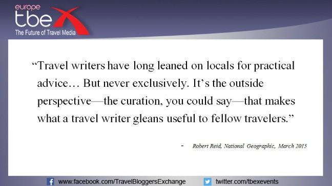 Robert Reid quote on journalism skills and travel writing