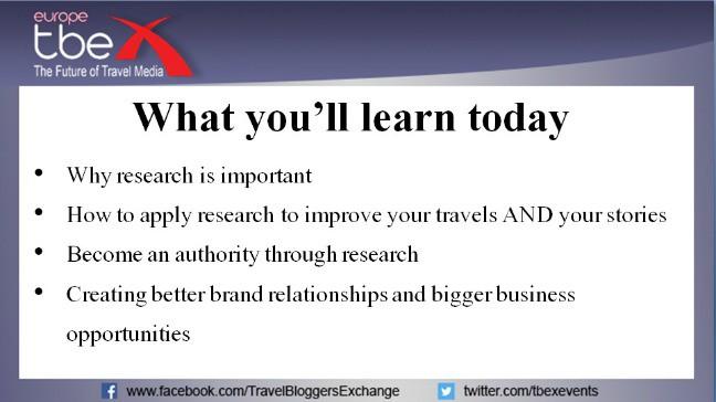 Using Journalism Skills to create expert content, our TBEX costa Brava Presentation