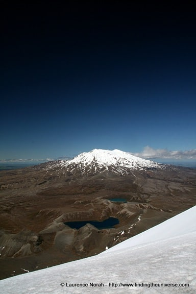 View of Mount Ruapehu from Mount Ngauruhoe