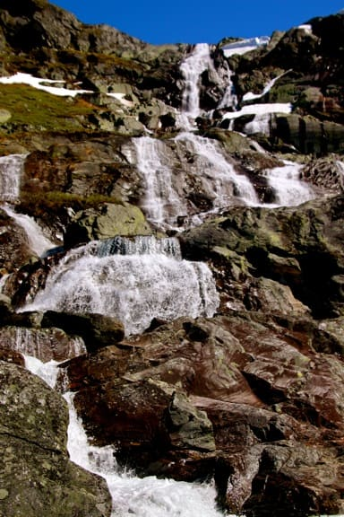 Waterfalls in the Jotunheimen Mountains of Norway