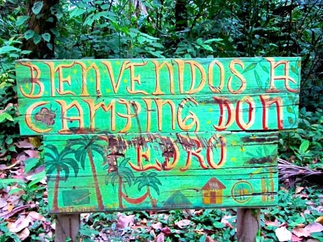 Don Pedro Campground in Tayrona National Park, Colombia