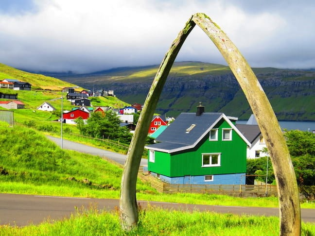 Faroe Islands Whale Jaw, photo by Mike Jerrard