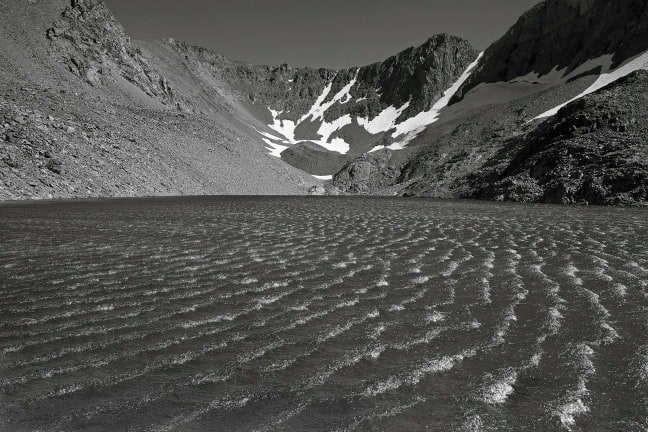 Ansel Adams Wilderness, California. Sunset, Wind, Dana Lake