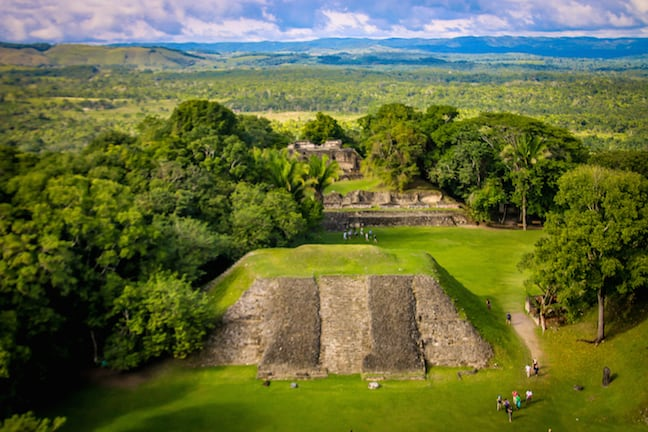 View From Atop El Castillo at Xunantunich, Belize