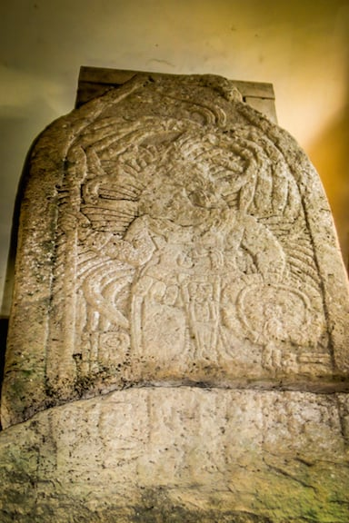 One of Several Stela Found at Xunantunich, Belize