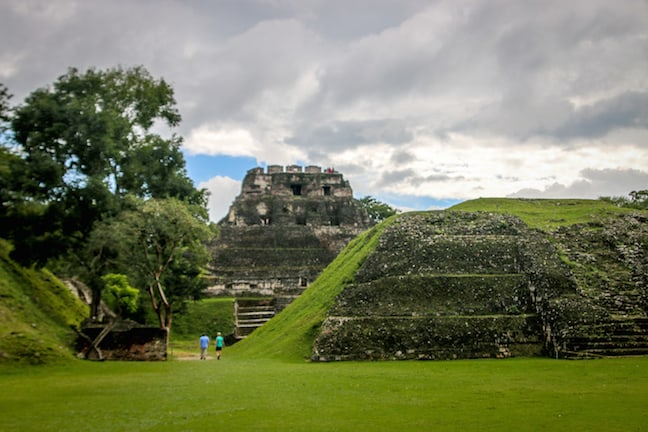 View From the Main Plaza at Xunantunich, Belize