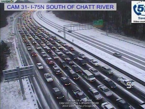 Image result for picture of atlanta snow jam