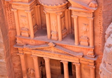 The View From Above the Treasury in Petra, Jordan
