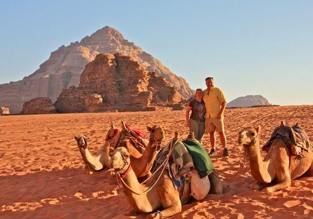 Bret Love & Mary Gabbett in Wadi Rum Desert, Jordan