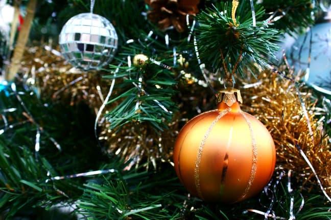 Tinsel at Christmas